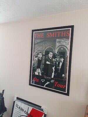 The Smiths The Queen Is Dead Tour Original Framed Poster. Very Rare. • 399£