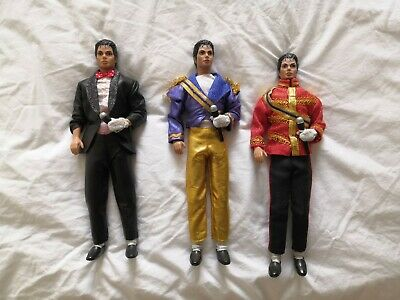 3 X Vintage Michael Jackson Dolls. Billie Jean, American Music Awards, Grammy's • 190£