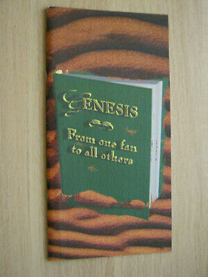 Genesis From One Fan To All Others Booklet ONLY • 1.49£