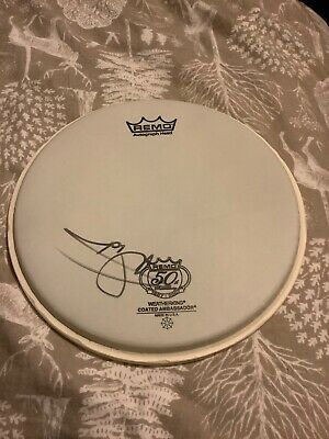 Signed / Autographed Nicko Mcbrain Iron Maiden Drumskin 2007 • 1.30£