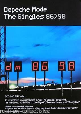 Depeche Mode 1998 The Singles 86 To 98 Original UK Promo Poster • 22.22£