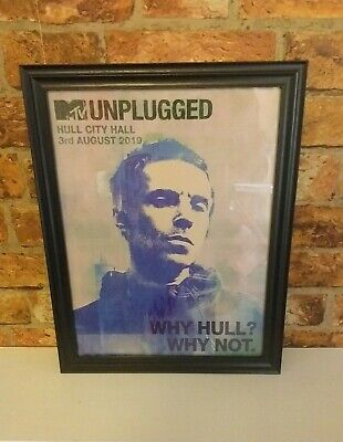 Liam Gallagher Why Hull? Why Not. FRAMED A3 Poster  • 28£
