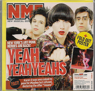 Yeah Yeah Yeahs NME Birthday / Greeting Card +Fold Out Poster 2008 New Sealed UK • 2.49£