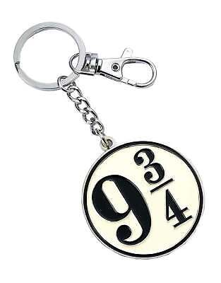 Harry Potter Keyring Platform 9 3/4 New Official Silver Plated Keychain • 8.95£