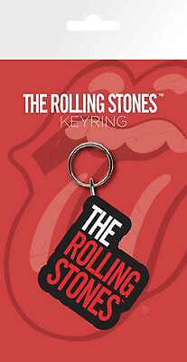 Official The Rolling Stones Keyring Keychain Classic Band Logo New Rubber • 2.50£