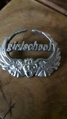 Rare Original Girlschool Metal Pin Badge   • 21£