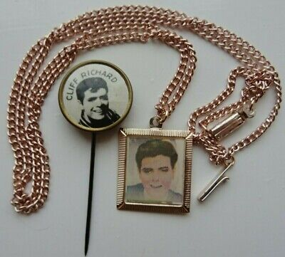 CLIFF RICHARD ORIGINAL EARLY 1960's NECKLACE AND STICK PIN BADGE • 18£