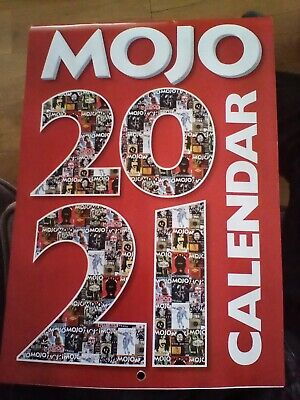 Mojo 2021 Music Calendar (Bowie Floyd Clash Beatles Bush Etc) • 2.99£