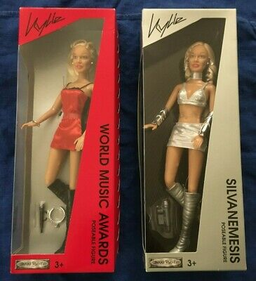 2 Kylie Minogue Doll Figure World Music Awards & Silvanemesis 2003 Vintage BNIB  • 85£