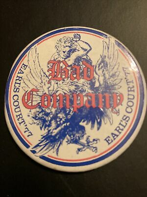 Vintage Bad Company Earls Court 77 Badge • 5£