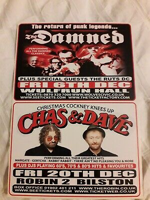 The Damned: 2013 Wolverhampton Gig Postcard (they Are On Half The Card) • 1.49£