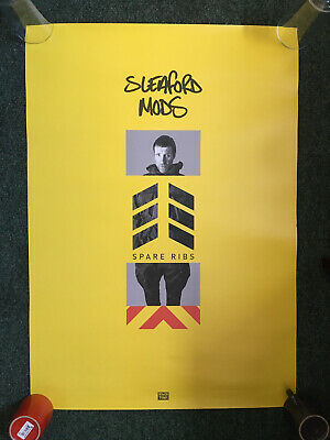 Sleaford Mods Spare Ribs 2-Sided Promo Poster 49 X 69cm Rough Trade Jason/Andrew • 5£