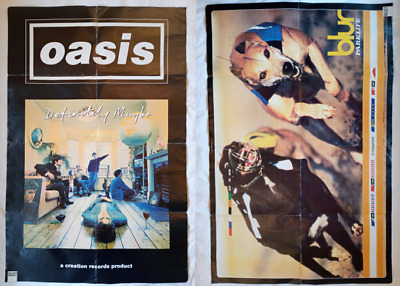 Britpop Blur Oasis Reversible Poster 1990s Parklife - Definitely Maybe - Select • 15£