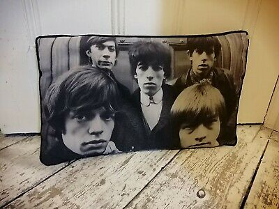 Rolling Stones Mick Jagger Cushion Black And White Approx 40cm Length • 1£