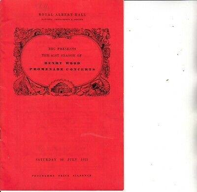 1955 Concert Programme At The Royal Albert Hall London On 30th July 1955 -    • 2.99£