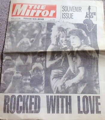 The Mirror, Souvenir Issue, Live Aid, Newspaper July 15 1985 • 0.99£