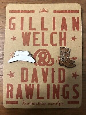 New Gillian Welch David Rawlings Sawtooth Limited Edition Enamel Pin Set Of Two • 14.17£