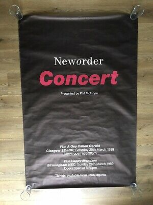 New Order Technique Concert Promo Poster Bus Stop Size 60 By 40 Factory Records • 100£