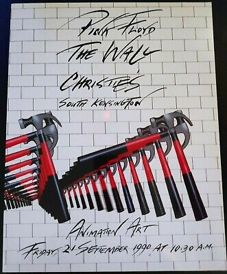 Pink Floyd - The Wall, Very Rare Christie's Auction Catalogue • 80£