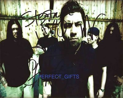Deftones X5 Band Signed 10x8 Pp Repro Photo Chino • 5.99£
