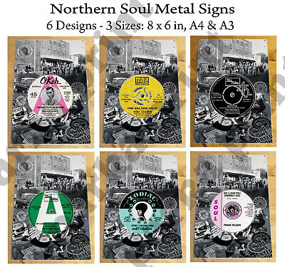 Northern Soul Metal Sign Plaque, Northern Vinyl Records Signs, Scooter Sign, Mod • 6.45£