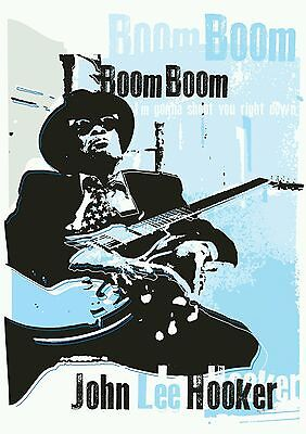 John Lee Hooker Blues Specially Designed Poster Print • 5£