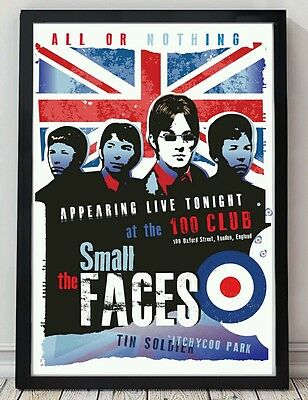 Small Faces Poster. Celebrating Famous Venues And Gigs. Specially Created. • 5£