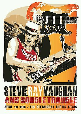 Stevie Ray Vaughan Blues Poster Print • 5£