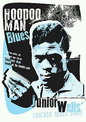 Junior Wells Chicago Blues Poster Specially Designed Print • 5£