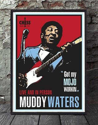 Muddy Waters Blues Specially Designed Poster Print • 5£
