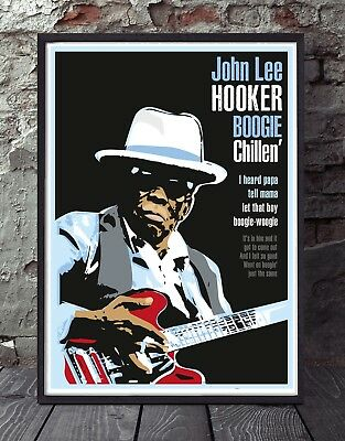 John Lee Hooker Blues A3 Size Specially Designed Poster Print • 11£