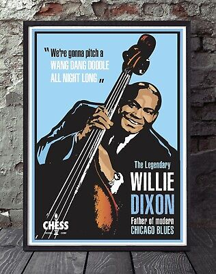 Willie Dixon Chess Records Blues Poster Print • 5£