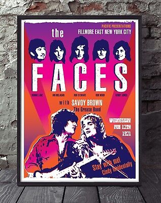 The Faces. Rod Stewart, Ronnie Wood Poster. Specially Created. • 5£