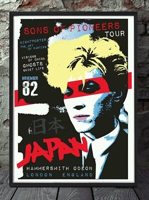 David Sylvian A4 Japan Poster. Specially Created. • 5£