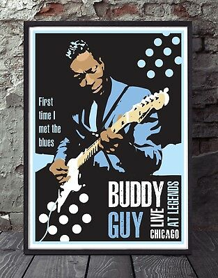 Buddy Guy Unframed Chicago Blues Poster Specially Designed Print • 5£