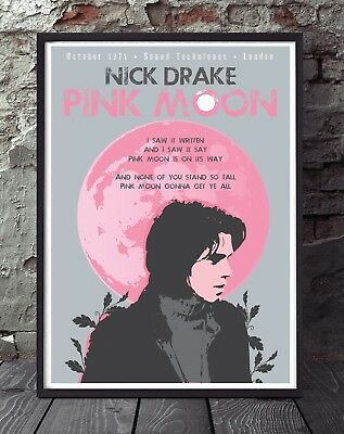 Nick Drake A4 Size Music Poster. Specially Created. • 5£