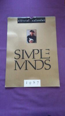 SIMPLE MINDS Official Calender 1987  • 7.99£