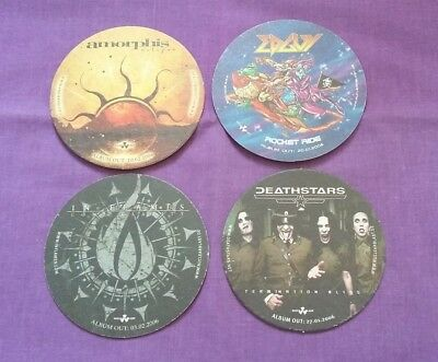 NUCLEAR BLAST Promo Beer Mats X 4 In Flames Amorphis Edguy Deathstars • 10£