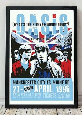 Oasis Poster. Specially Designed Celebrating Famous Bands • 5£