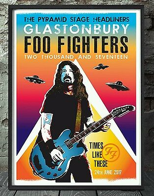 Foo Fighters Glastonbury Music Print. Specially Created. • 6£