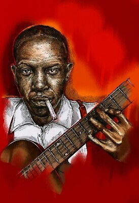 Robert Johnson Art Print Unframed Blues Specially Designed • 7.50£