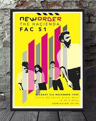 New Order. Joy Division Print  Poster. Specially Created. • 5£