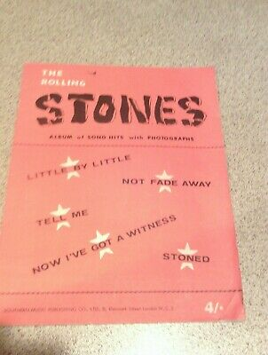 ROLLING STONES Music/song Book • 12.50£