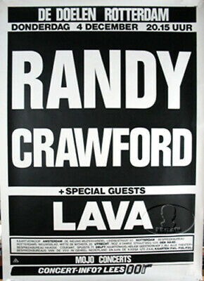 Randy Crawford 1986 Tour Concert Poster • 17.87£