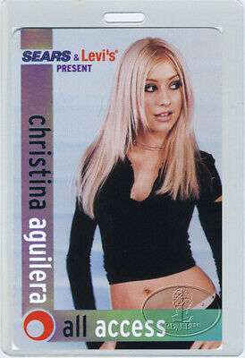 Christina Aguilera 2000 Tour Laminated Backstage Pass • 27.78£