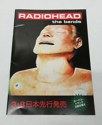 RADIOHEAD The Bends 1995 JAPAN Promo Only BOOKLET Yorke SELWAY O'Brien GREENWOOD • 37.04£