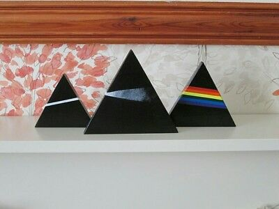 Pink Floyd - The Dark Side Of The Moon - Pyramids - Wood Triangles Sculpture • 40£