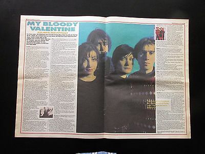 MY BLOODY VALENTINE 1991 UK DOUBLE PAGE CENTRE SPREAD MAGAZINE CUTTING 22  X 16  • 12.99£