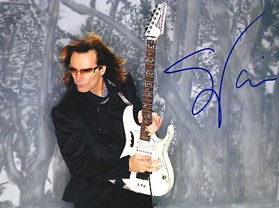 Steve Vai Very Rare Amazing In Person Signed W/proof Coa • 39.90£
