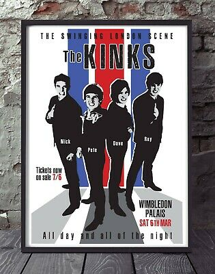 The Kinks A4 Size Poster. Specially Designed • 5£